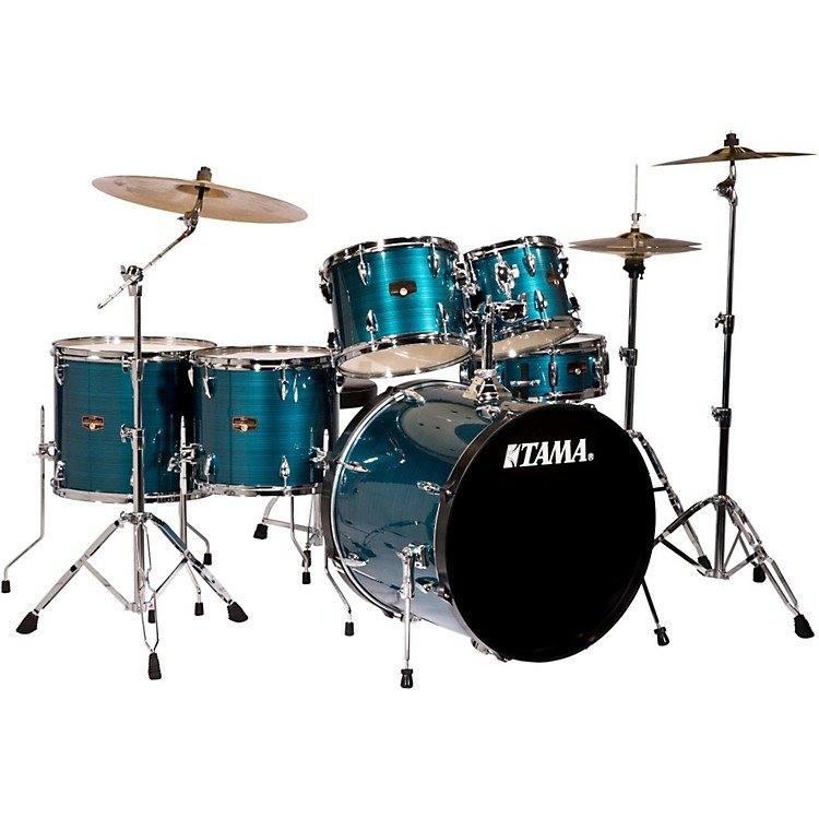 Tama Imperialstar 6-Piece Drum Set with Cymbals Hairline Blue