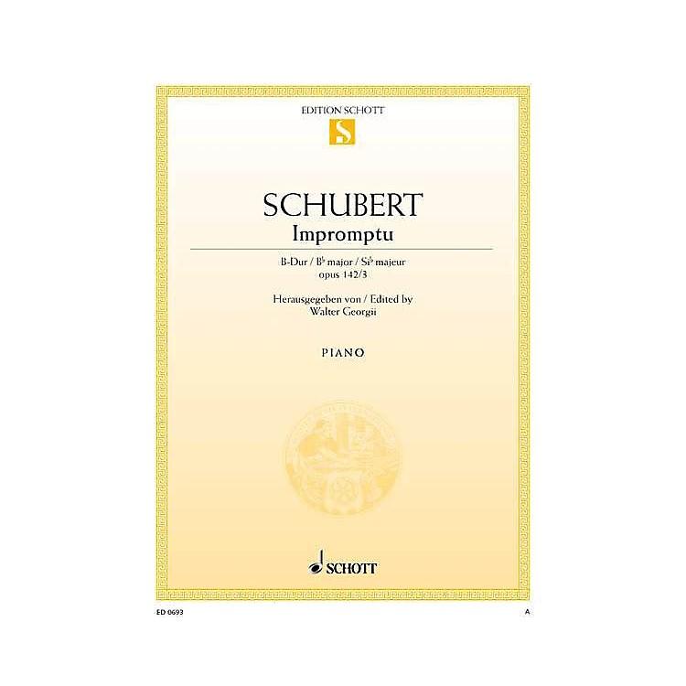 SchottImpromptu No. 3 in B-flat Major, Op. posth. 142, D 935/3 Schott Series