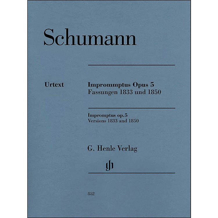 G. Henle VerlagImpromptus, Op. 5 (Versions 1833 and 1850) Piano Solo By Schumann