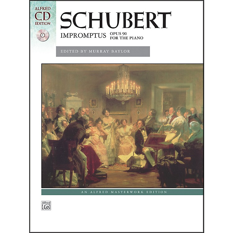 Alfred Impromptus, Op. 90 by Franz Schubert Book & Naxos Label CD