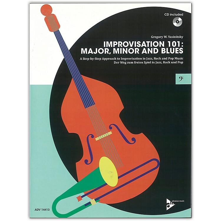 ADVANCE MUSICImprovisation 101: Major, Minor, and Blues Bass Instruments Book & CD