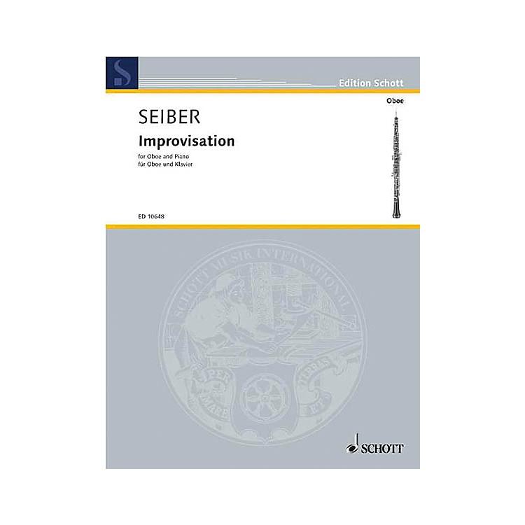 SchottImprovisations (Oboe with Piano Accompaniment) Schott Series