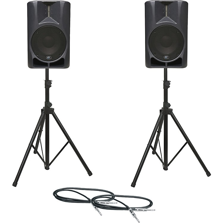 PeaveyImpulse 12D Speaker Pair with Stands and Cables