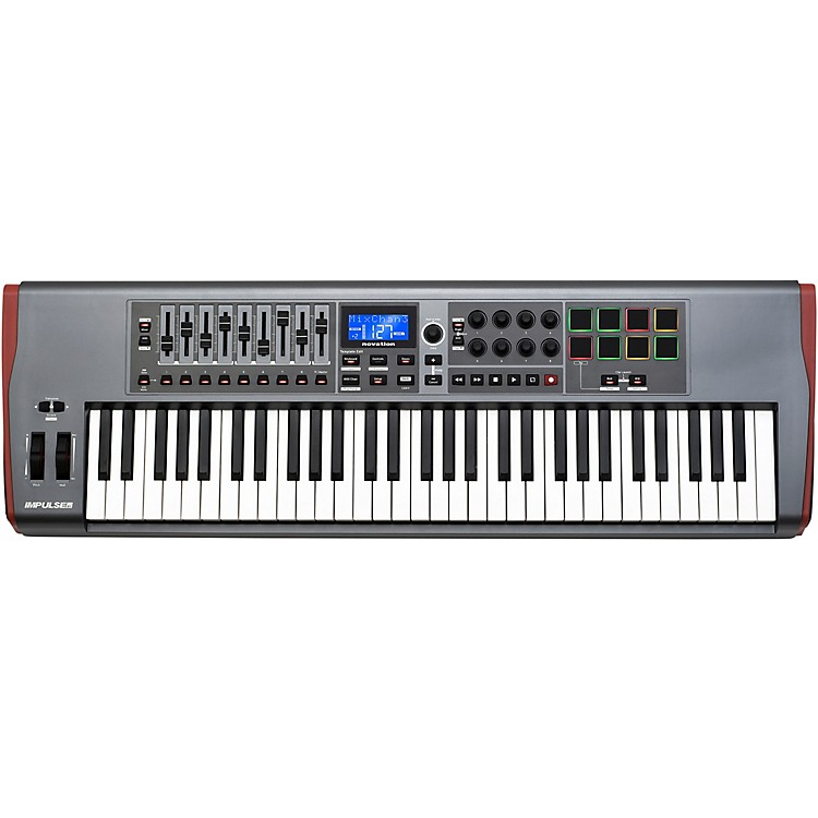 novation impulse 61 midi controller music123. Black Bedroom Furniture Sets. Home Design Ideas