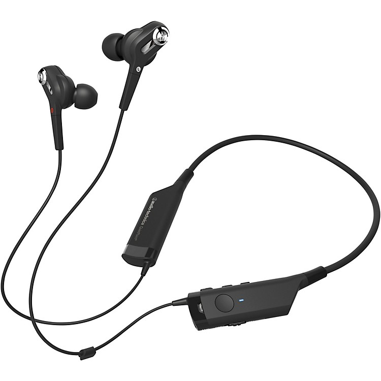 Audio-Technica In-Ear Neck Worn Noise Cancelling and Bluetooth Headphones Black
