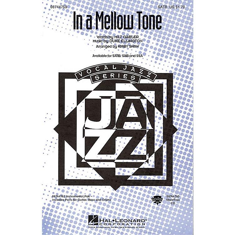 Hal LeonardIn a Mellow Tone SATB by Duke Ellington arranged by Kirby Shaw