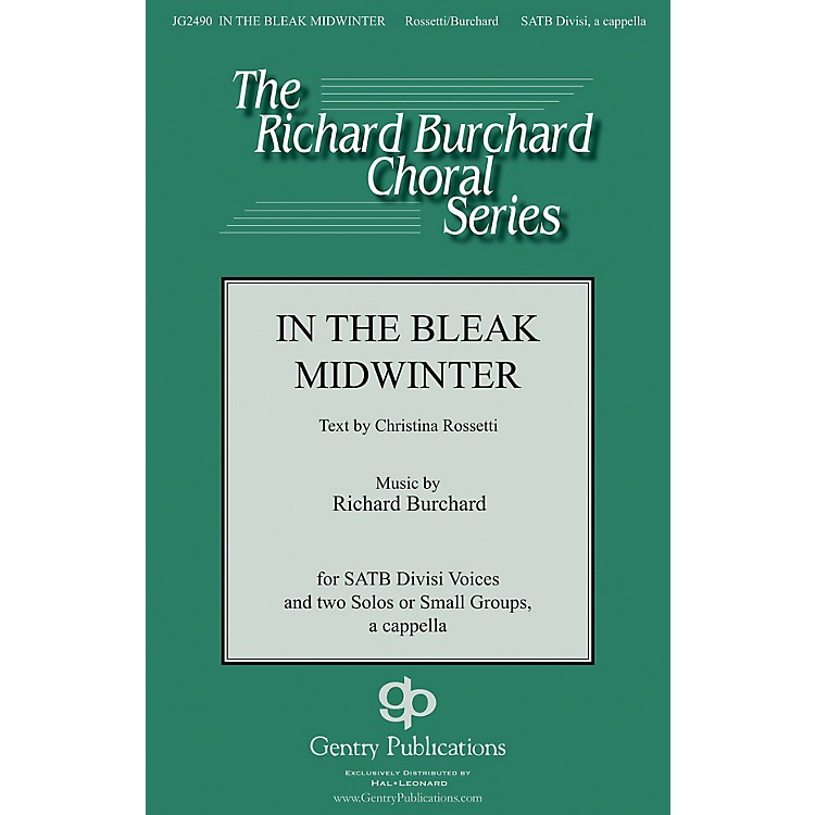 Gentry PublicationsIn the Bleak Midwinter SATB DV A Cappella composed by Richard Burchard