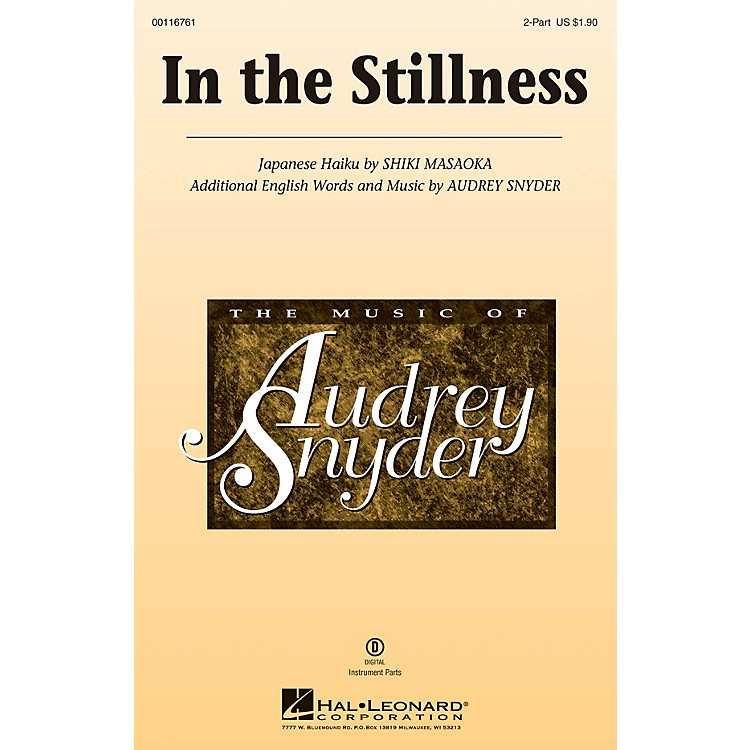 Hal LeonardIn the Stillness 2-Part composed by Audrey Snyder