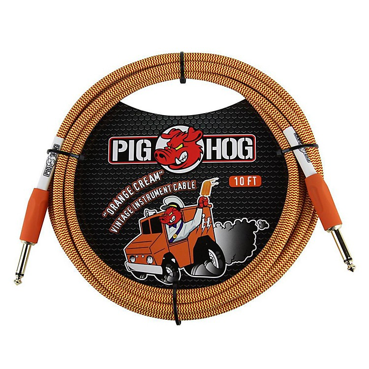 Pig HogInstrument Cable10 ft.Orange Cream