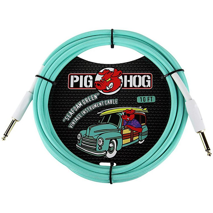 Pig Hog Instrument Cable 10 ft. Seafoam Green