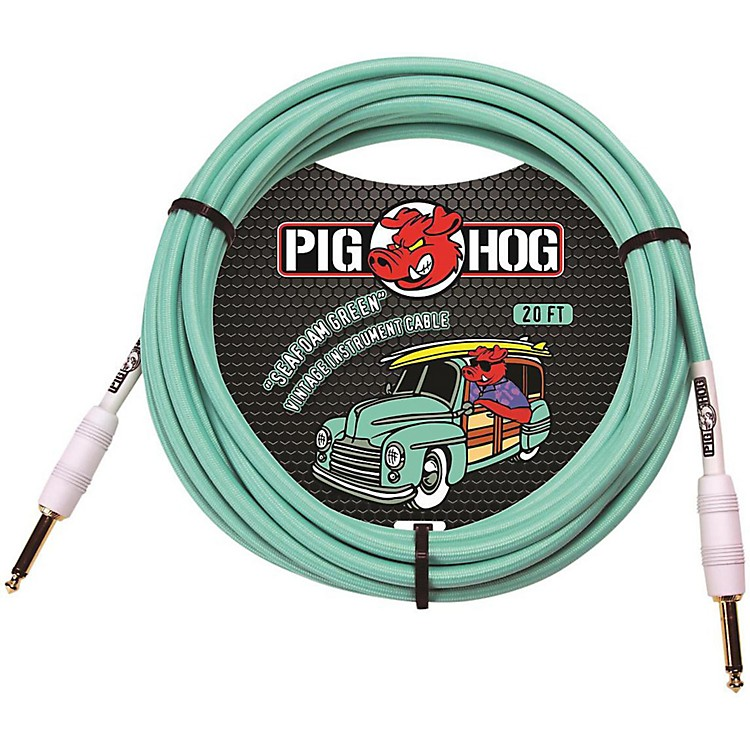Pig Hog Instrument Cable 20 ft. Seafoam Green