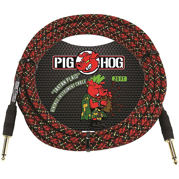 Pig Hog Instrument Cable 20 ft. Tartan Plaid