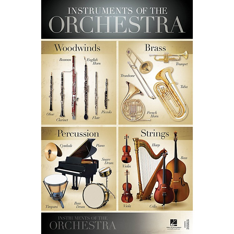 Hal LeonardInstruments of the Orchestra Wall Poster - 22 inch x 34 inch
