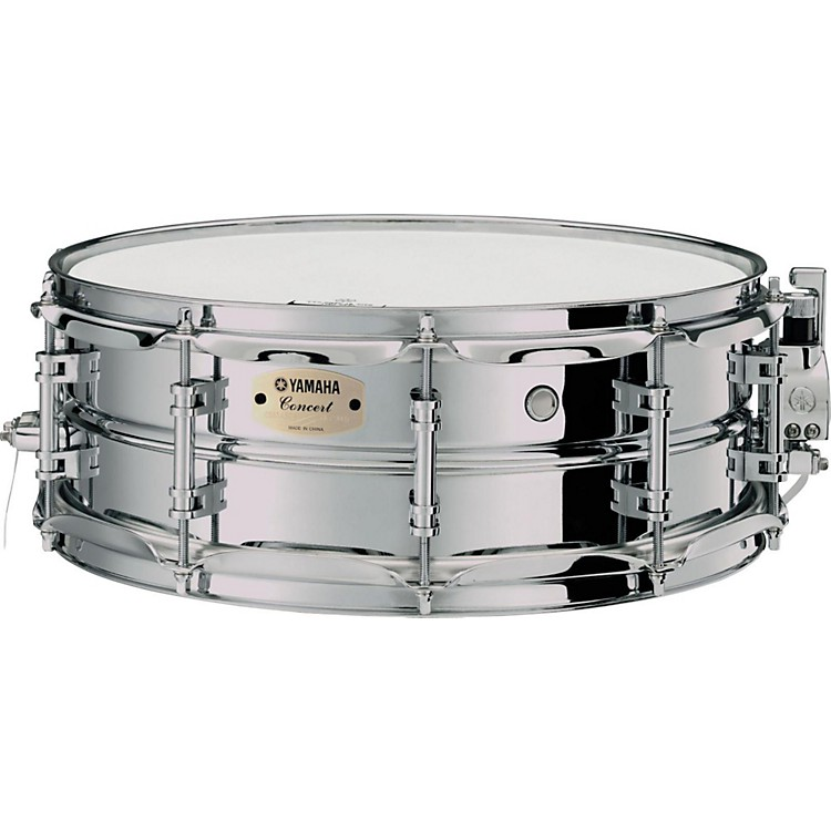 Yamaha Intermediate Concert Snare Drum; 1.2mm Chrome-Plated Steel Shell 14 x 5 in.