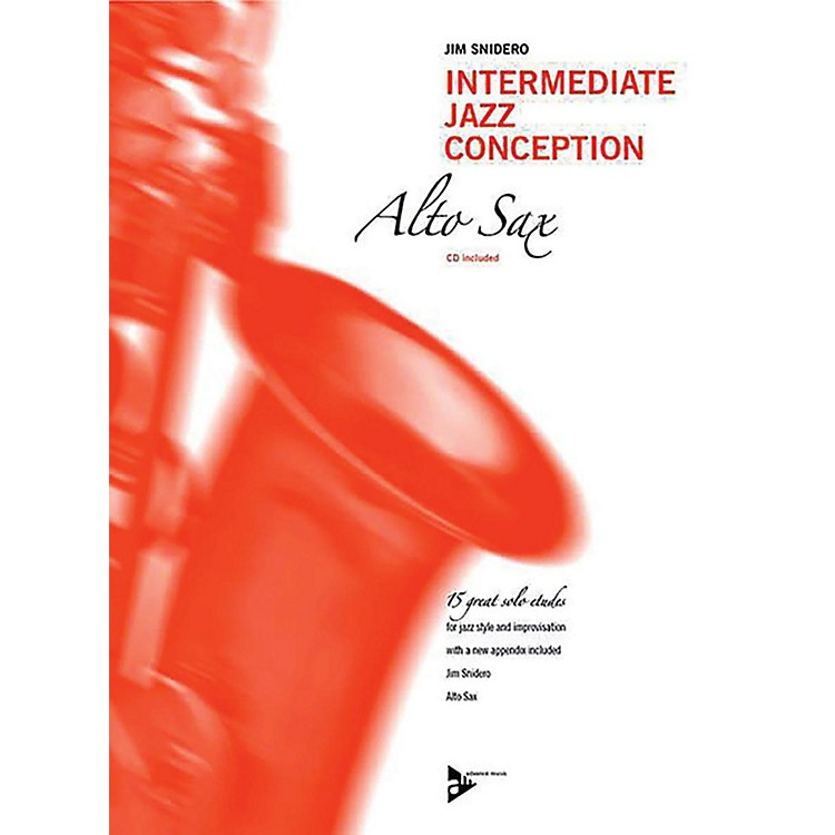 ADVANCE MUSIC Intermediate Jazz Conception: Alto & Baritone Sax Book & CD Intermediate
