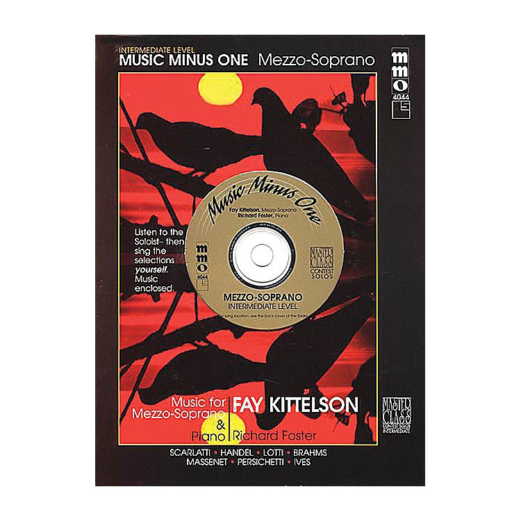 Music Minus OneIntermediate Mezzo Soprano Solos Music Minus One Series Softcover with CD