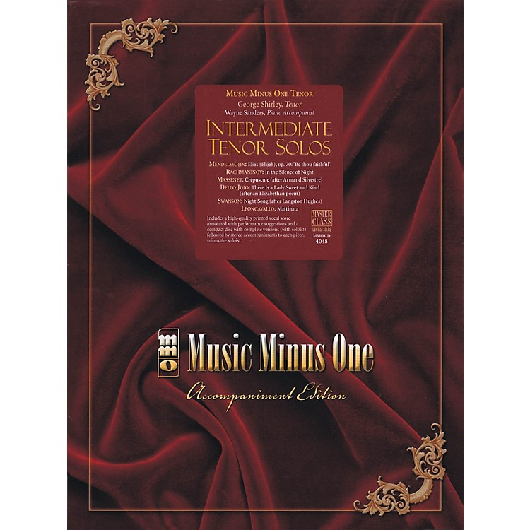 Music Minus OneIntermediate Tenor Solos Music Minus One Series Softcover with CD  by Various