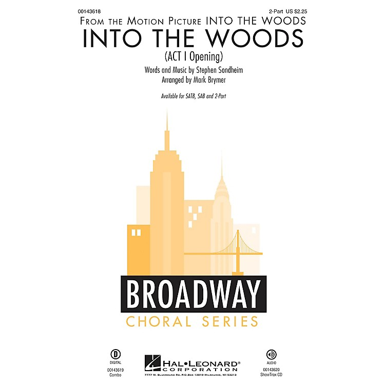 Hal Leonard Into the Woods (Act I Opening) ShowTrax CD Arranged by Mark Brymer