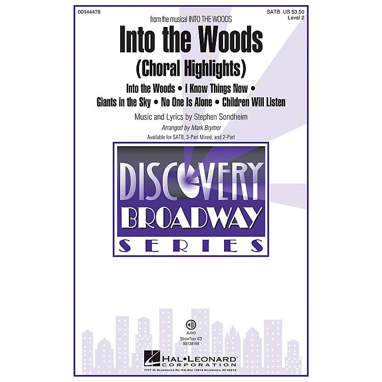 Hal LeonardInto the Woods (Choral Highlights Discovery Level 2) ShowTrax CD Arranged by Mark Brymer