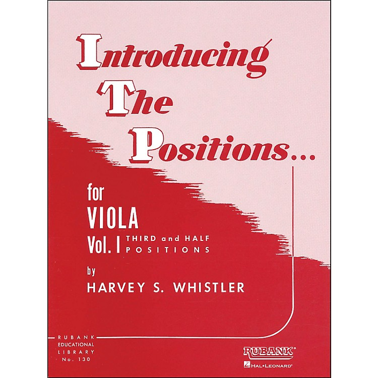 Hal LeonardIntroducing The Positions for Viola Vol 1 Third And Half Positions