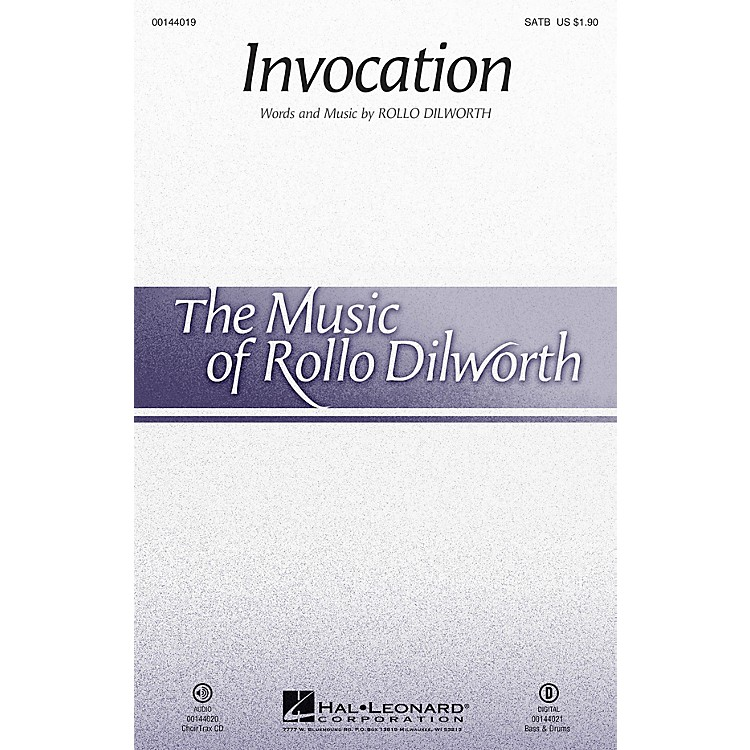 Hal Leonard Invocation CHOIRTRAX CD Composed by Rollo Dilworth