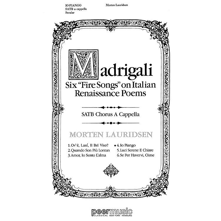 Peer MusicIo Piango SATB a cappella Composed by Morten Lauridsen