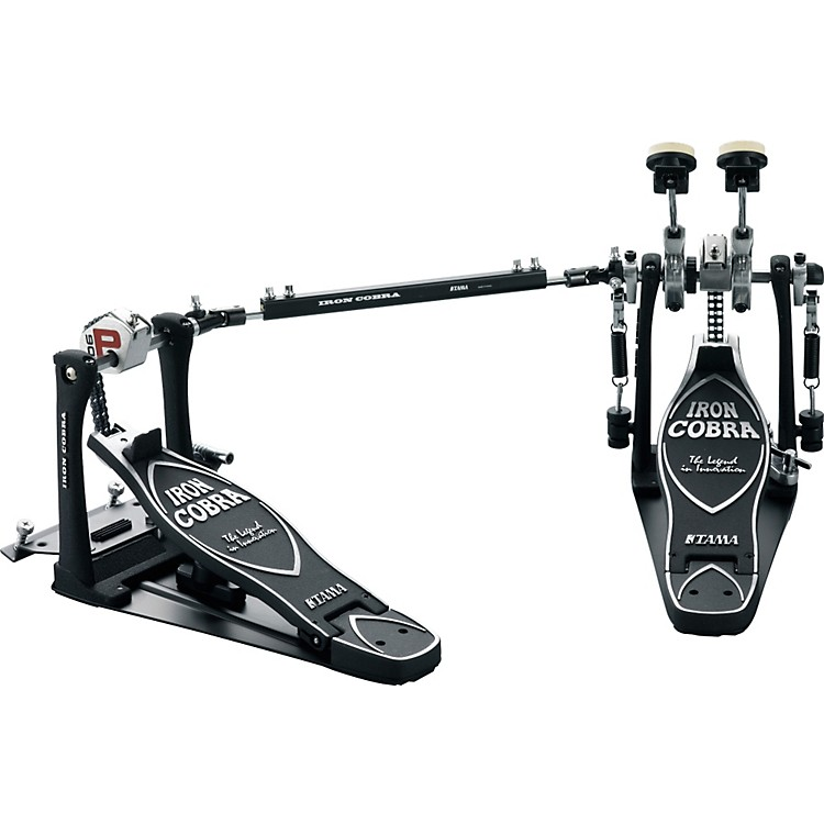 tama iron cobra power glide double kick drum pedal with cobra coil music123. Black Bedroom Furniture Sets. Home Design Ideas