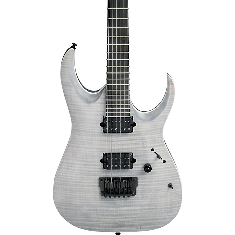 Ibanez Iron Label RG Series RGAIX6FM Electric Guitar Transparent Gray Flat