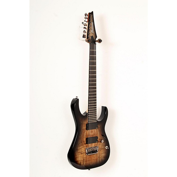 Ibanez Iron Label RG Series RGIX27FESM 7-String Electric Guitar Foggy Stained Black 888365795294