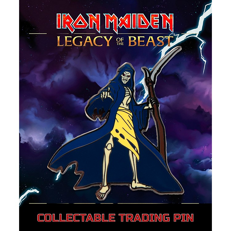 Entertainment Earth Iron Maiden Reaper Eddie Lapel Pin