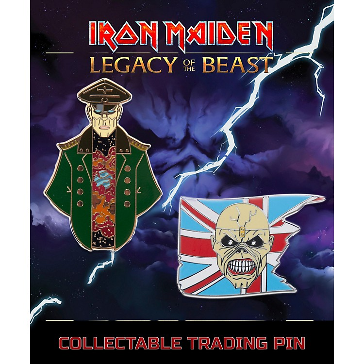 Entertainment EarthIron Maiden Set #1 Trooper Eddie and General Lapel Pin 2-Pack