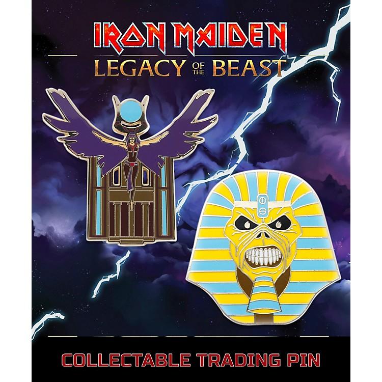 Entertainment EarthIron Maiden Set #2 Pharaoh and Aset Lapel Pin 2-Pack