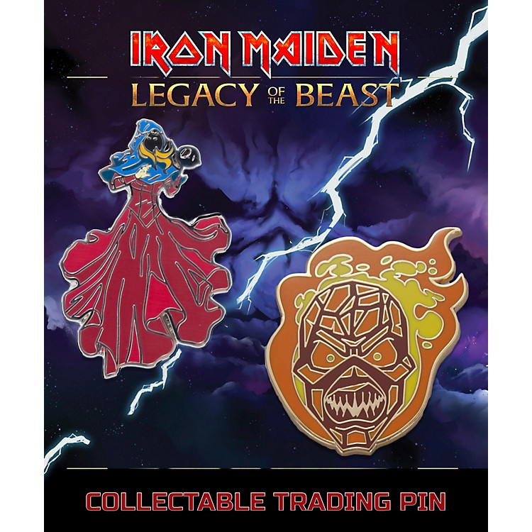 Entertainment EarthIron Maiden Set #3 Clairvoyant & Wicker Man Lapel Pin 2-Pack