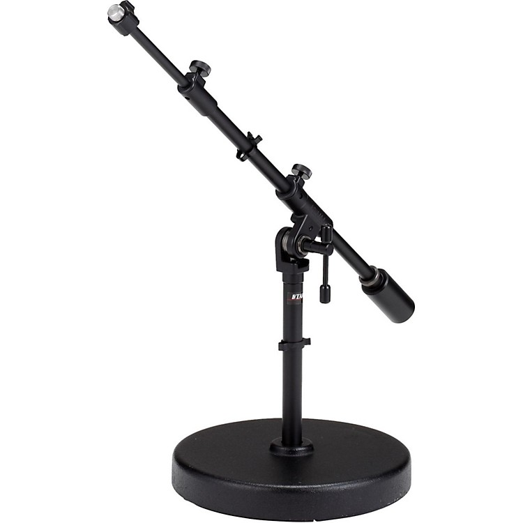 Tama Iron Works Studio Round Base Extra Low-Profile Telescoping Boom Stand Black