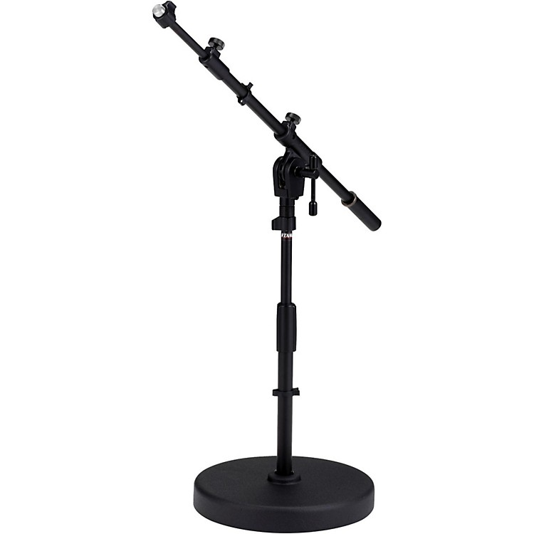 Tama Iron Works Tour Round Base Low-Profile Telescoping Boom Stand Black