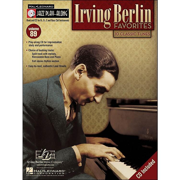 Hal LeonardIrving Berlin Favorites Jazz Play-Along Volume 89 Book/CD
