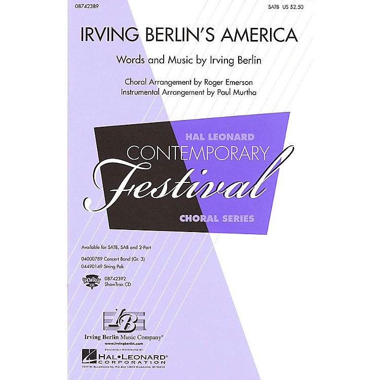 Hal LeonardIrving Berlin's America (Medley) ShowTrax CD Arranged by Roger Emerson