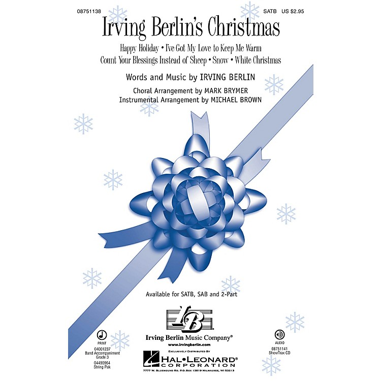 Hal LeonardIrving Berlin's Christmas (Medley) ShowTrax CD Arranged by Mark Brymer