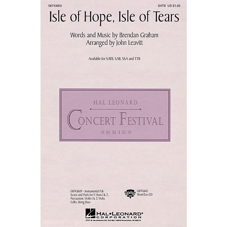 Hal LeonardIsle of Hope, Isle of Tears SAB by The Irish Tenors Arranged by John Leavitt