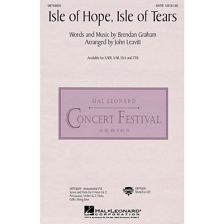 Hal Leonard Isle of Hope, Isle of Tears ShowTrax CD by The Irish Tenors Arranged by John Leavitt