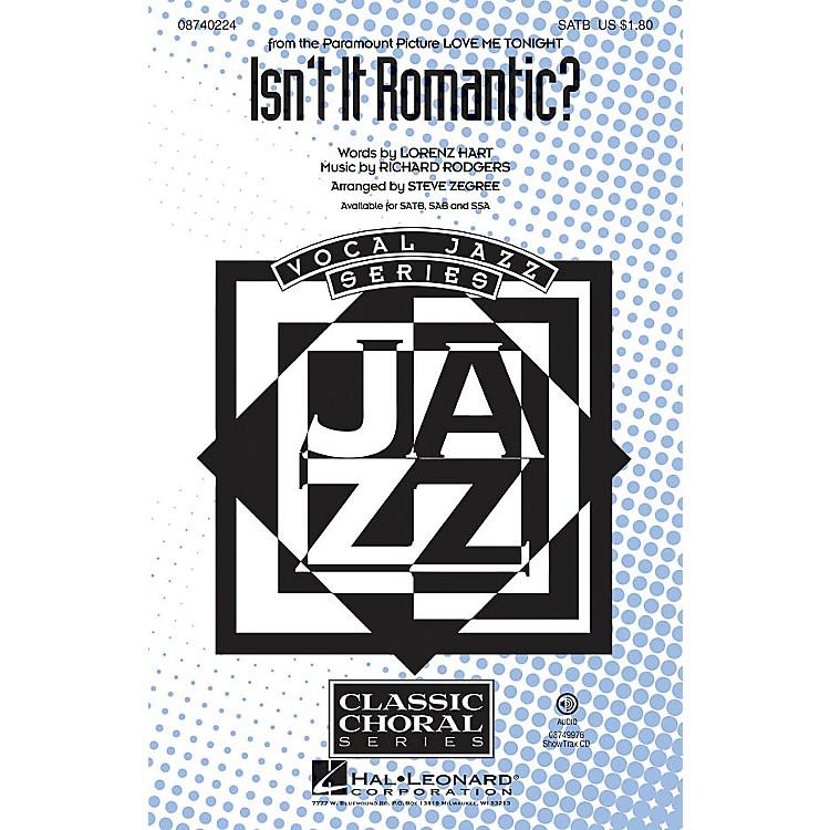 Hal LeonardIsn't It Romantic? ShowTrax CD Arranged by Steve Zegree