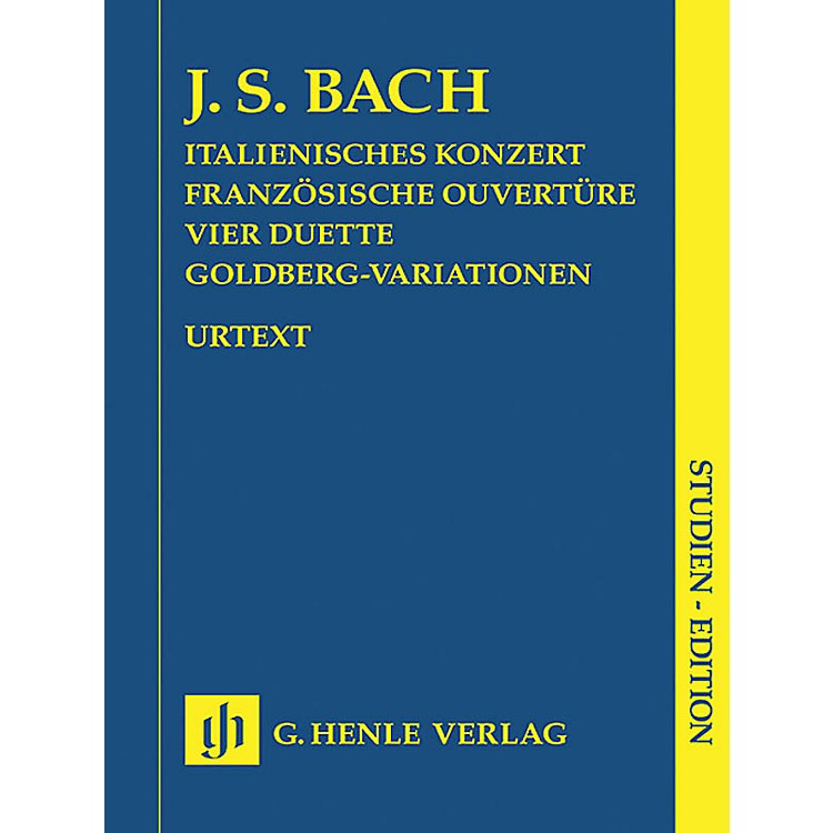 G. Henle Verlag Italian Concerto, French Overture, Four Duets, Goldberg Variations Henle Study Scores Series Softcover