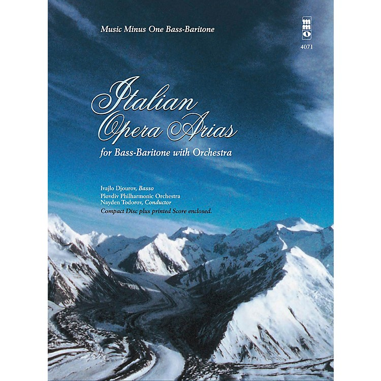 Music Minus OneItalian Opera Arias for Bass-Baritone and Orchestra Music Minus One Series Softcover with CD by Various