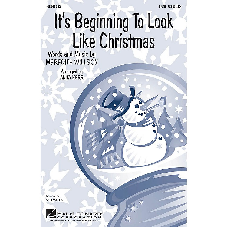 Hal Leonard It's Beginning to Look Like Christmas SATB arranged by Anita Kerr
