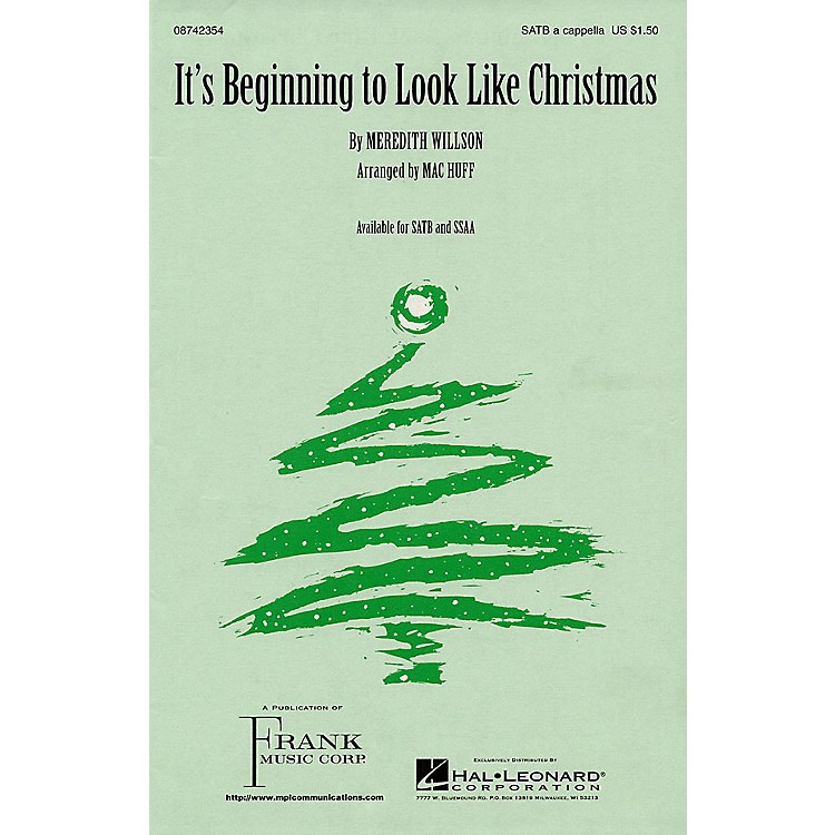 Hal Leonard It's Beginning to Look Like Christmas SSAA A Cappella Arranged by Mac Huff