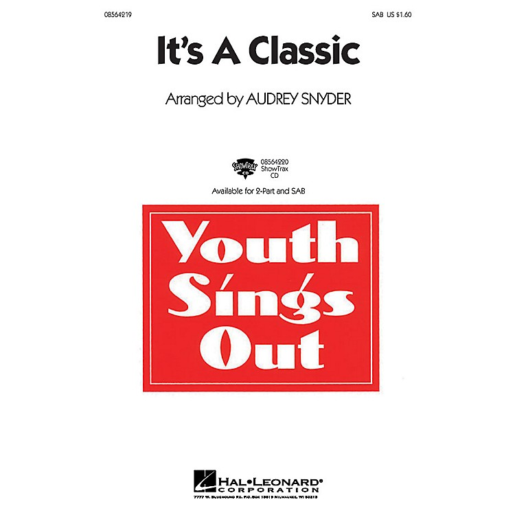 Hal Leonard It's a Classic SAB arranged by Audrey Snyder