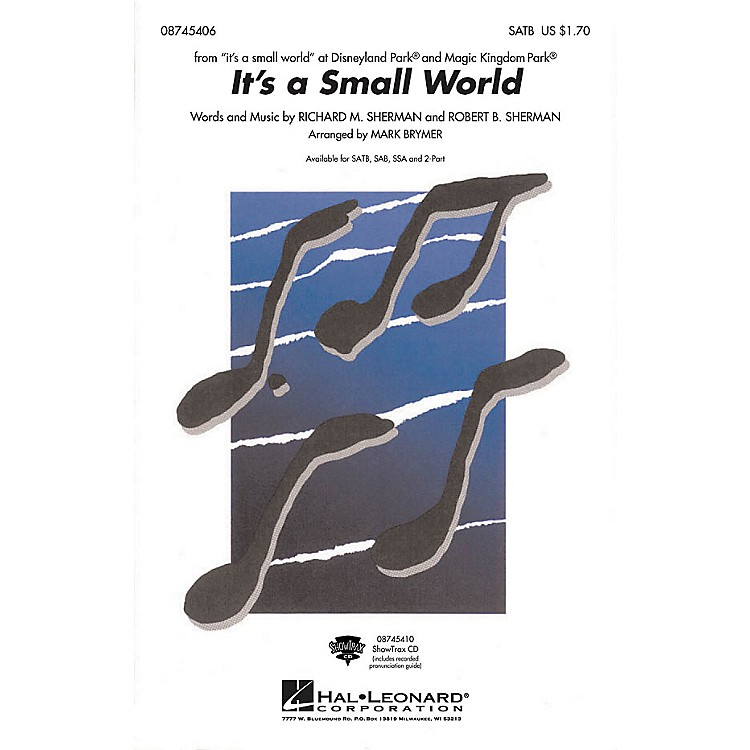 Hal LeonardIt's a Small World ShowTrax CD Arranged by Mark Brymer