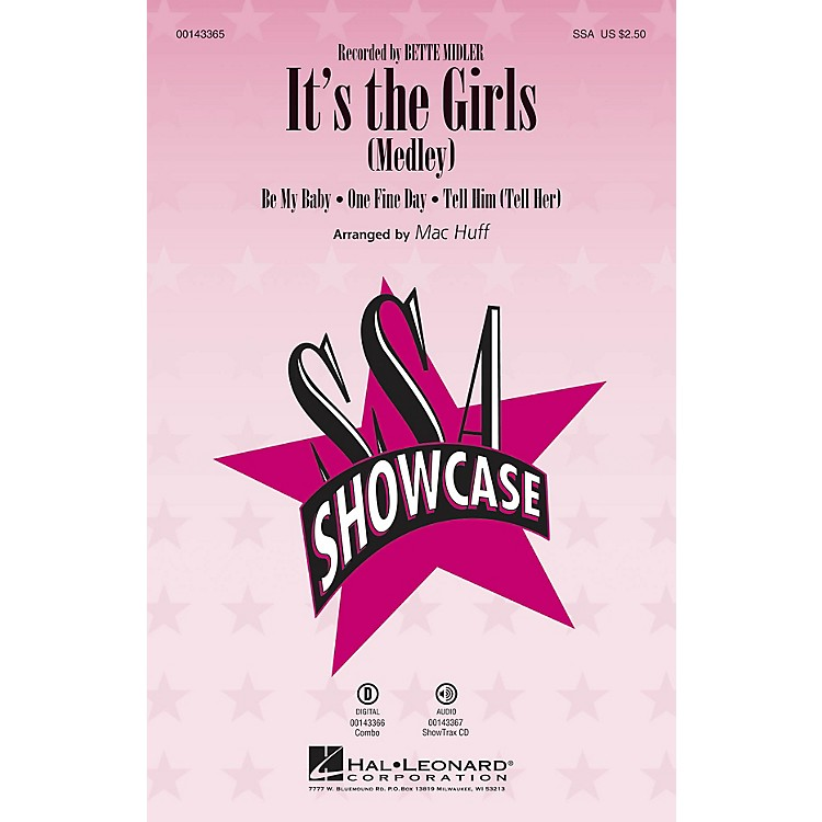 Hal LeonardIt's the Girls (Medley) ShowTrax CD by Bette Midler Arranged by Mac Huff