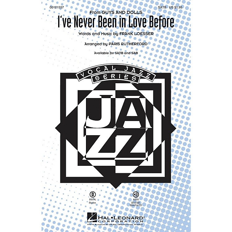 Hal LeonardI've Never Been in Love Before (from Guys and Dolls) ShowTrax CD Arranged by Paris Rutherford