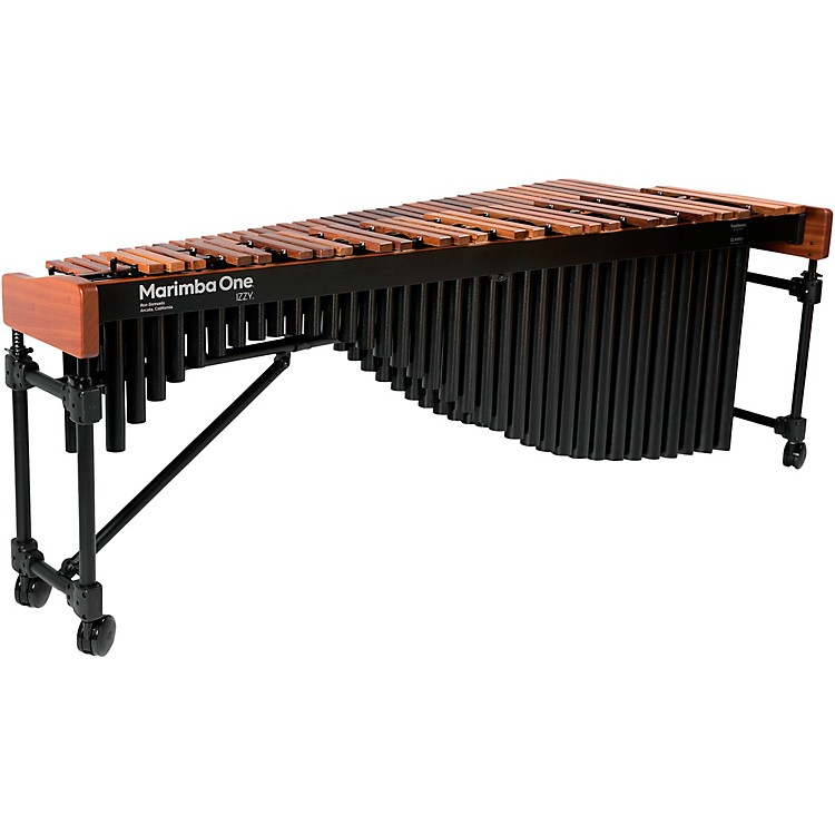 Marimba One Izzy #9504 A442 Marimba with Traditional Keyboard and Basso Bravo Resonators 5 Octave Concert Frame
